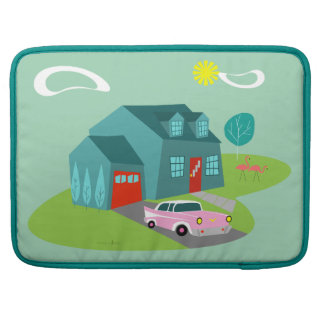 Retro Suburban House MacBook Pro Sleeve For MacBook Pro