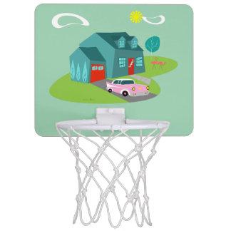 Retro Suburban House Mini Basketball Hoop