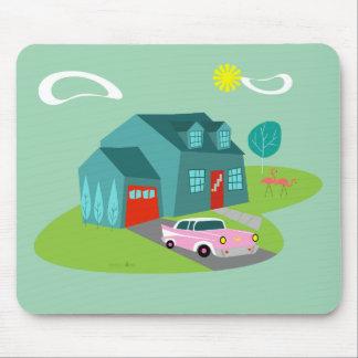 Retro Suburban House Mousepad