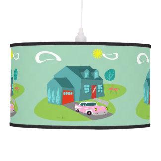 Retro Suburban House Pendant Lamp