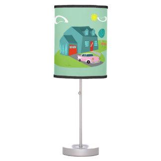 Retro Suburban House Table Lamp
