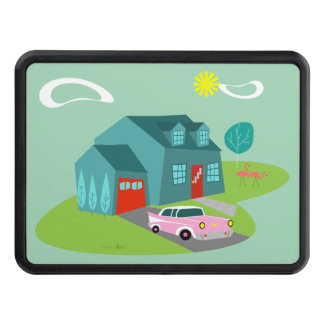 Retro Suburban House Trailer Hitch Cover