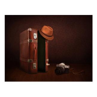 Retro Suitcase Postcard