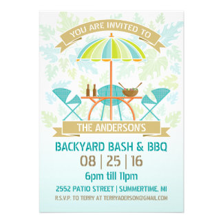 Retro Summer Party Invitation