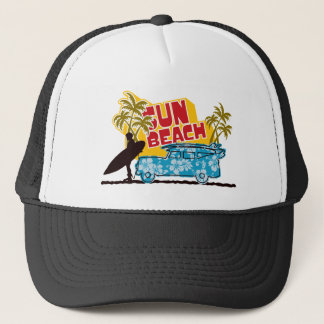Retro Sun & Surf Trucker Hat