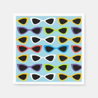 Retro sunglasses cocktail napkin paper napkin