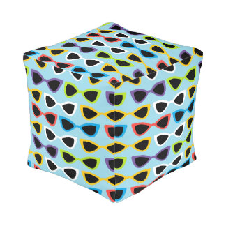 Retro sunglasses cubed pouf