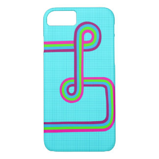 Retro Super Seventies Rainbow Stripe iPhone 8/7 Case