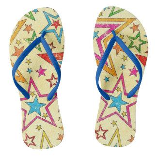 retro super star unisex flip flops