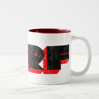 retro surf Two-Tone coffee mug