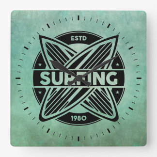 Retro Surfboards Wall Clock