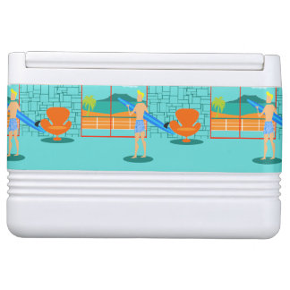 Retro Surfer Dude Igloo Can Cooler