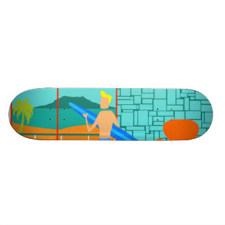 Retro Surfer Dude Skateboard