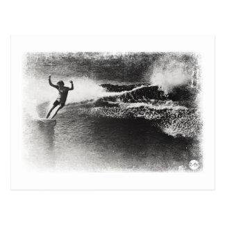 retro surfing postcard