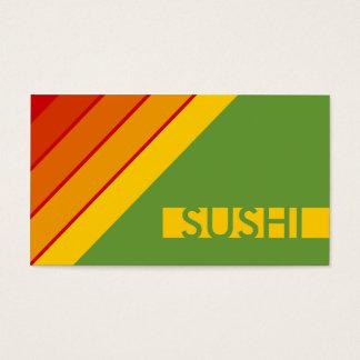 retro SUSHI Business Card