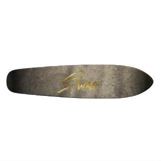 Retro Swag on Textured Background Skateboard Decks