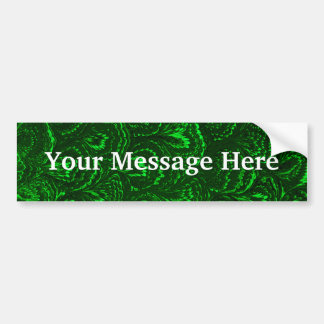 Retro Swirls Emerald Green Bumper Sticker