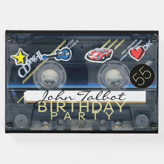 Retro T3 Audiotape 55th birthday Party Guest Book