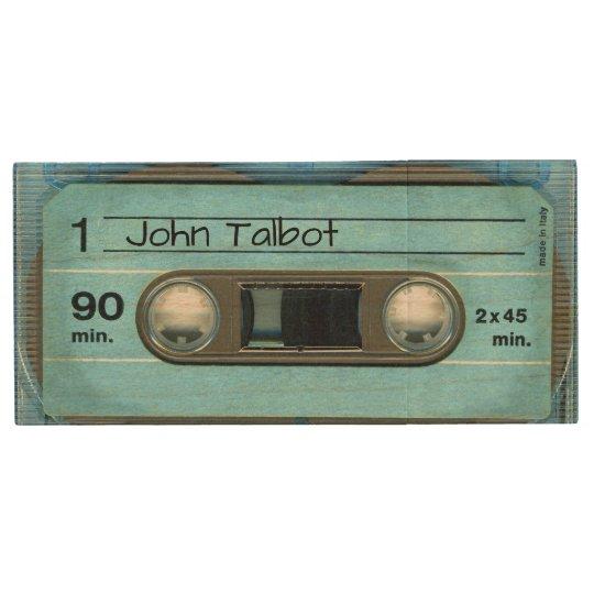 Retro T4 Blue Audiotape personalized USB Wood USB Flash Drive