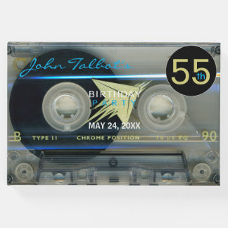 Retro T5 Audiotape 55th birthday Party Guest Book