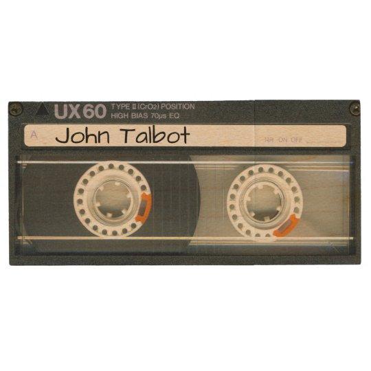 Retro T6 Audiotape personalized USB Wood USB Flash Drive