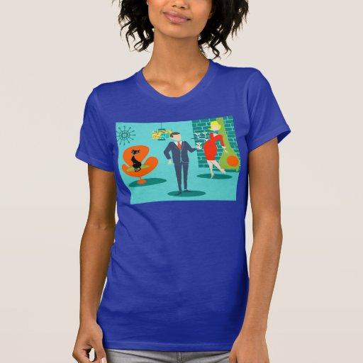 Rétro T-shirt de couples de bande dessinée d'âge