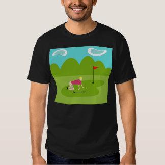 Rétro T-shirt de golfeur
