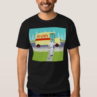 Rétro T-shirt de laitier de petite ville