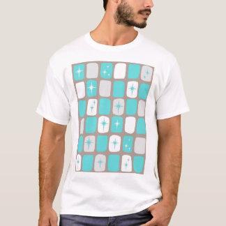 Rétro T-shirt de Starbursts de turquoise