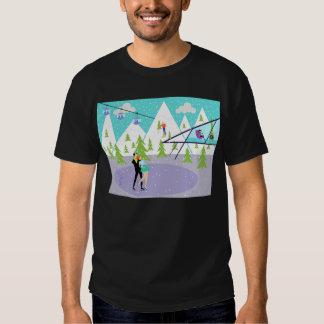 Rétro T-shirt de station de sports d'hiver d'hiver