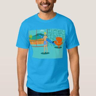 Rétro T-shirt de type de surfer