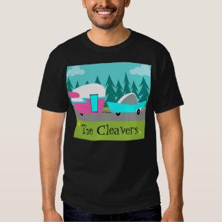 Rétro T-shirt personnalisable de campeur/remorque
