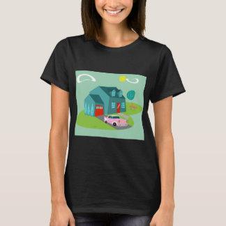Rétro T-shirt suburbain de Chambre