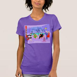 Rétro T-shirt tropical de fête de Noël