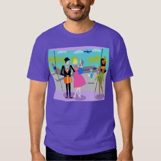 Rétro T-shirt tropical de vacances