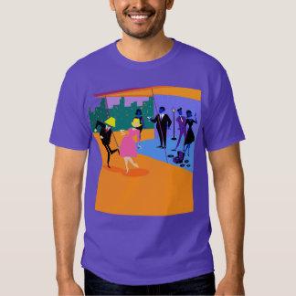 Rétro T-shirt urbain de partie de dessus de toit