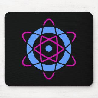 Rétro tapis de souris de symbole d'atome de la sci