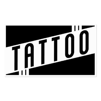 retro tattoo pack of standard business cards