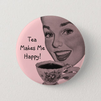 Retro Tea 2 Inch Round Button