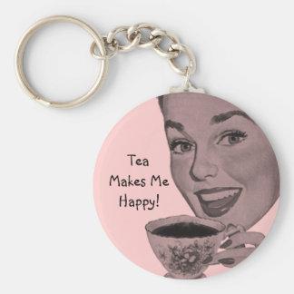 Retro Tea Keychain