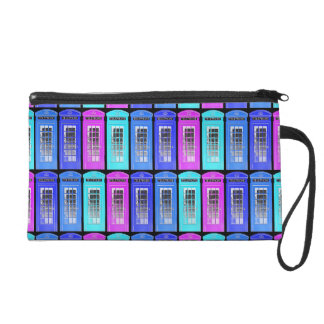Retro Telephone Boxes Wristlet