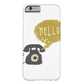 Retro Telephone Dial Phone Hello Speech Bubble Cas Barely There iPhone 6 Case