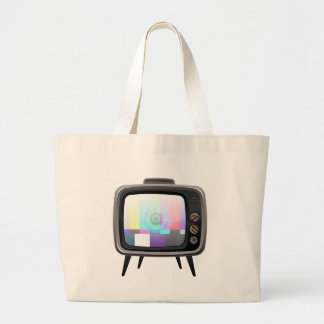 Retro Television Large Tote Bag