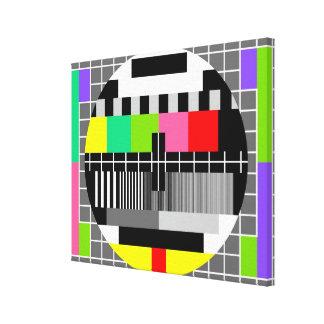 'Retro television' wrapped canvas