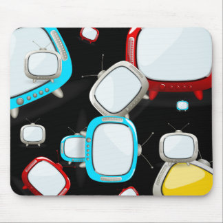 Retro Televisions Pattern Mouse Pad