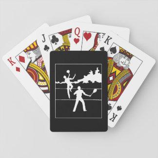 Retro Tennis Silhouette Playing Cards