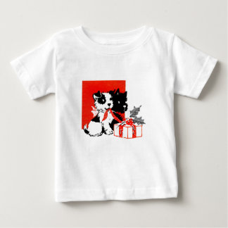 Retro Terrier and Scotty Dogs Baby T-Shirt