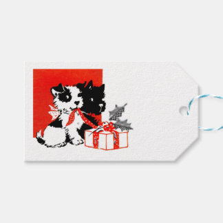 Retro Terrier and Scotty Dogs Gift Tags