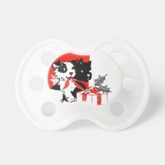 Retro Terrier and Scotty Dogs Pacifier
