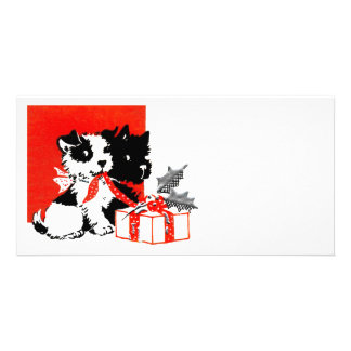Retro Terrier and Scotty Dogs Photo Card Template
